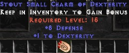 8 Defense w/ 1 Dex SC
