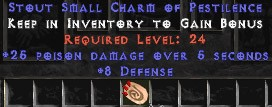 8 Defense w/ 25 Poison Damage SC