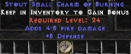 8 Defense w/ 4-8 Fire Damage SC
