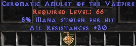 Amulet - 30 Resist All & 8% ML