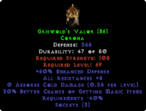 Griswold's Valor - 30% MF & 70% ED - Perfect