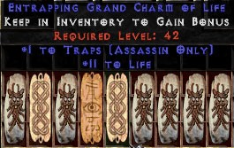 9 x Pack - Assassin Traps w/ 10-20 Life GC