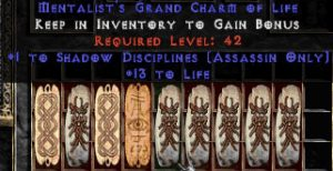 9 x Pack - Assassin Shadow Disciplines w/ 10-20 Life GC