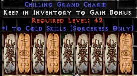 9 x Pack - Sorceress Cold Skills GC (plain)
