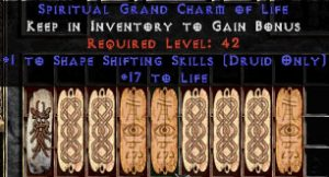 9 x Pack - Druid Shape Shifting Skills w/ 10-20 Life GC