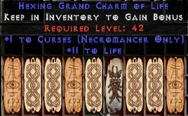 9 x Pack - Necromancer Curses w/ 10-20 Life GC