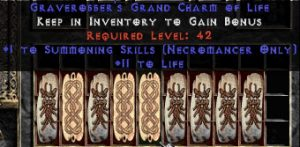 9 x Pack - Necromancer Summoning Skills w/ 10-20 Life GC