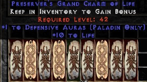 9 x Pack - Paladin Defensive Auras w/ 10-20 Life GC