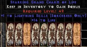 9 x Pack - Sorceress Lightning Skills w/ 10-20 Life GC