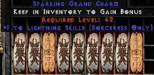 9 x Pack - Sorceress Lightning Skills GC (plain)