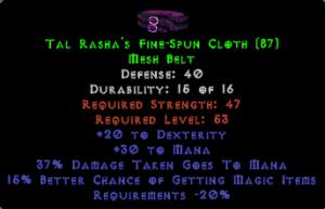 Tal Rasha's Fine-Spun Cloth - 40 Def, 15% MF - Perfect
