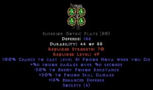 =+20/-20 Poison Facet Die Gothic Plate
