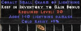 9 Resist Cold w/ 1-10 Lightning Damage SC