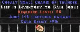 9 Resist Cold w/ 1-18 Lightning Damage SC
