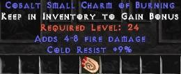 9 Resist Cold w/ 4-8 Fire Damage SC