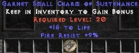 9 Resist Fire w/ 15 Life SC