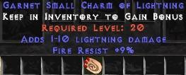 9 Resist Fire w/ 1-10 Lightning Damage SC