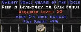9 Resist Fire w/ 2-4 Cold Damage SC