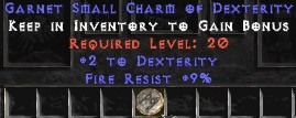 9 Resist Fire w/ 2 Dex SC