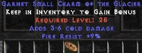 9 Resist Fire w/ 3-6 Fire Damage SC