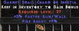9 Resist Fire w/ 3% FRW SC