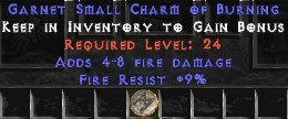 9 Resist Fire w/ 4-8 Fire Damage SC
