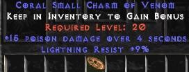 9 Resist Lightning w/ 15 Poison Damage SC