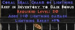 9 Resist Lightning w/ 1-10 Lightning Damage SC