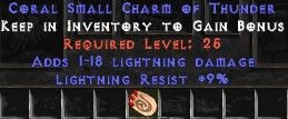 9 Resist Lightning w/ 1-18 Lightning Damage SC