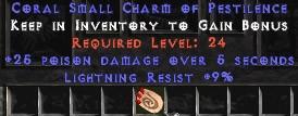 9 Resist Lightning w/ 25 Poison Damage SC