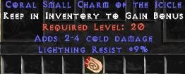 9 Resist Lightning w/ 2-4 Cold Damage SC
