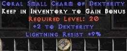 9 Resist Lightning w/ 2 Dex SC