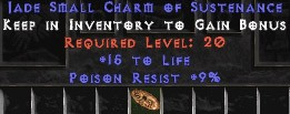 9 Resist Poison w/ 15 Life SC