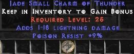 9 Resist Poison w/ 1-18 Lightning Damage SC