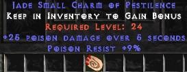 9 Resist Poison w/ 25 Poison Damage SC