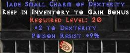 9 Resist Poison w/ 2 Dex SC