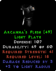 Arcanna's Flesh - 107 Defense - Perfect