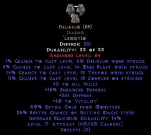 Delirium Diadem - Base 15% ED