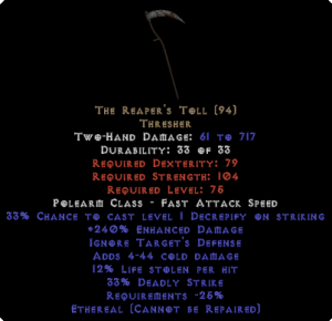 The Reaper's Toll - Ethereal - 220-239% ED