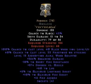 Phoenix Monarch - 350-379% ED & 15 Aura