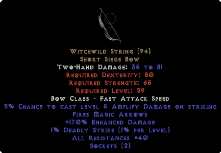 Witchwild String - 170% ED - Perfect