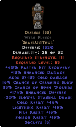 Duress Wire Fleece - 150-184% EDef