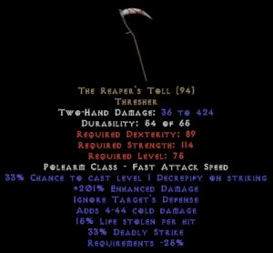 The Reaper's Toll - 15% LL