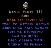 Raven Frost - +20 Dex & 230+ AR