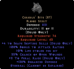 Cerebus' Bite - Ethereal - +4SS/+2FR