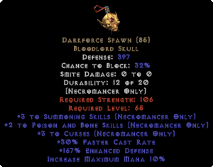 Darkforce Spawn +3 Curses & Summon