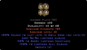 =+20/-20 Lightning Facet Level-Up Archon Plate