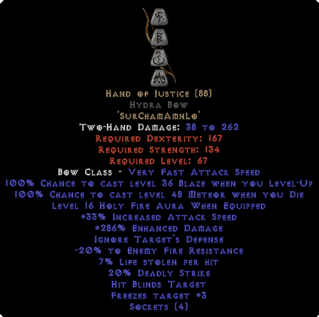 Hand of Justice Hydra Bow - 280-329% ED