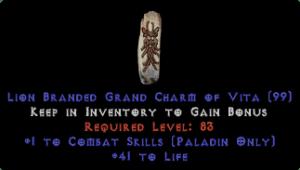 Paladin Combat Skills w/ 41-44 Life GC