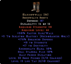 Marrowwalk +1 Skeleton Mastery & 20 Strength